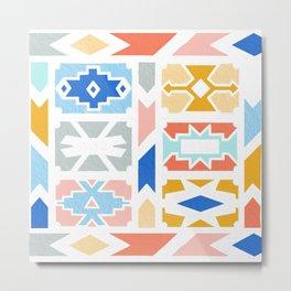 Pastel Ndebele Pattern Metal Print