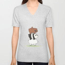 We Bare Bears by Maria Piedra Unisex V-Neck
