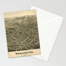 Aerial View of Washington, Pennsylvania (1897) Stationery Cards