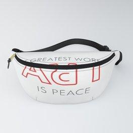 Art is Peace Fanny Pack