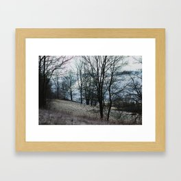 frosty hikes in january Framed Art Print