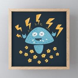 Heavy Metal Mushroom Framed Mini Art Print