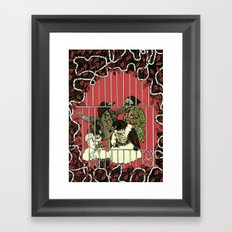 Crow Serie :: At The Balcony (after Goya) Framed Art Print