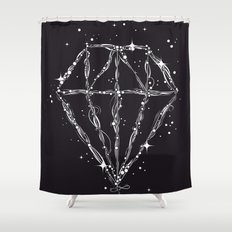 Drawing of a diamond Shower Curtain