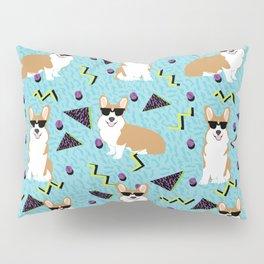 Rad Corgi Dog - 80s, 90s retro style rad corgi cute corgi design Pillow Sham
