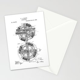 patent art Edison 1888 Phonograph Stationery Cards