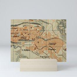 Vintage Segovia Spain Map (1913) Mini Art Print
