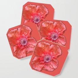 Poppy monochromatic Coaster