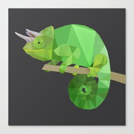 Low Poly Chameleon Canvas Print