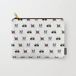 Cats Wearing Sunglasses Pattern Carry-All Pouch