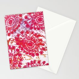 Large Pink Flower Stationery Cards