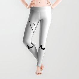 Biathlon Heartbeat T Shirt Biathlon Competition TShirt Biathlete Coach Shirt Heart Beat Gift Idea Leggings