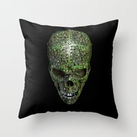 data Throw Pillows featuring Bad data by GrandeDuc
