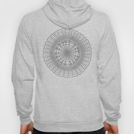 Becoming on White Background Hoody