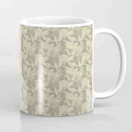 Abstract Geometrical Triangle Pattern Natural Olive Green - Martinique Dawn - Asian Silk Coffee Mug