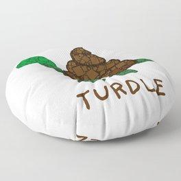 Turdle - Poop - Turtle - 57 Montgomery Art Floor Pillow