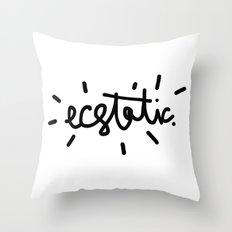 ecstatic Throw Pillow