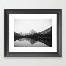 Swiftcurrent Lake, Glacier National Park Framed Art Print