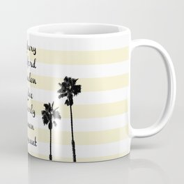 Beverly Hills Street Names Palm Trees Yellow Stripes Coffee Mug