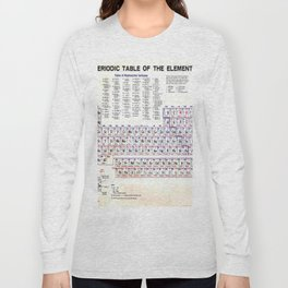 Scientist Gifts, Science Gifts Periodic Table Of The Elements Long Sleeve T-shirt