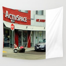 Not So Active Parking Space Wall Tapestry