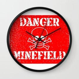 Danger Minefield Wall Clock