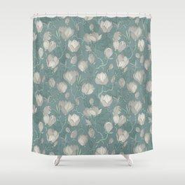 Magnolia Mint Shower Curtain