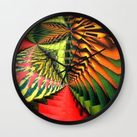 brasil Wall Clocks featuring Brasil by Lyle Hatch
