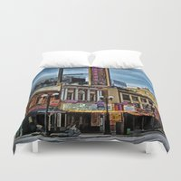 theater Duvet Covers featuring Orpheum Theater by gypsykissphotography