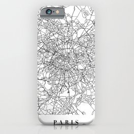 Paris France Street Map Minimal iPhone Case