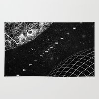 interstellar Area & Throw Rugs featuring Interstellar by Amanda Mocci