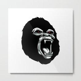 Angry gorilla head. Metal Print