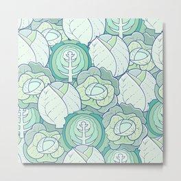 seamless pattern of cabbage Metal Print