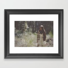 lost in woodland Framed Art Print