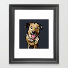 Cody (Blue) Framed Art Print
