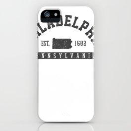 philadelphia pennsylvania est. 1682 memento present pullover tee iPhone Case