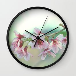 BLOOMING PLUM Wall Clock