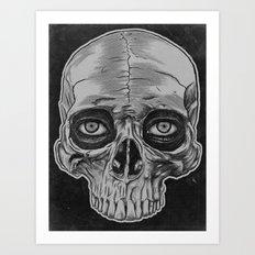 Behind the skull Art Print