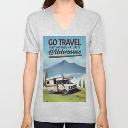 Go Travel - Visit mother natures wilderness. Unisex V-Neck