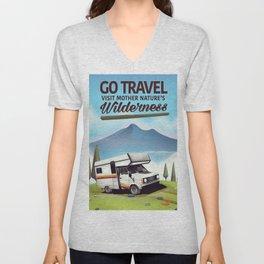 Go Travel - Visit mother natures wilderness. Unisex V-Neck