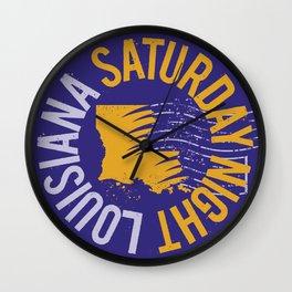 Louisiana Saturday Night Wall Clock