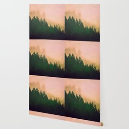 Cascadia Green Trees and Sunset Wallpaper