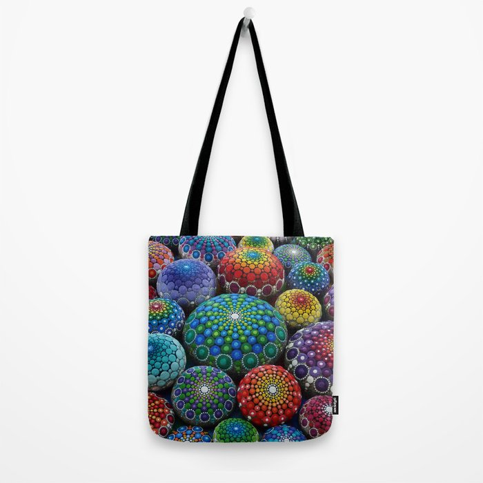 Jewel Drop Mandala Stone Collection #1 Tote Bag