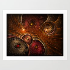 Entwined Dimensions Art Print