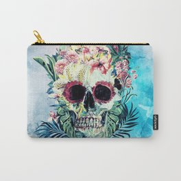 SKULL FLORAL Carry-All Pouch
