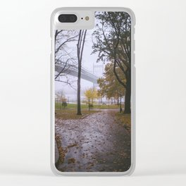 Rainy Autumn in Astoria Park Clear iPhone Case