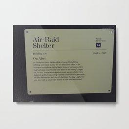 Air-Raid Shelter Sign Metal Print