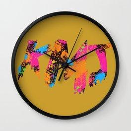 Iaia in Ochre Wall Clock