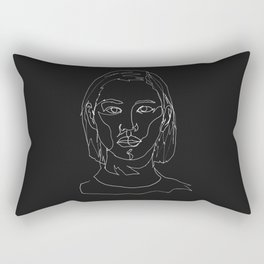minimal drawing  Rectangular Pillow