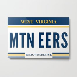 West Virginia License Plate Metal Print